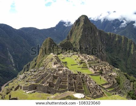 Machu Picchu, the pre-columbian city of Inca - stock photo