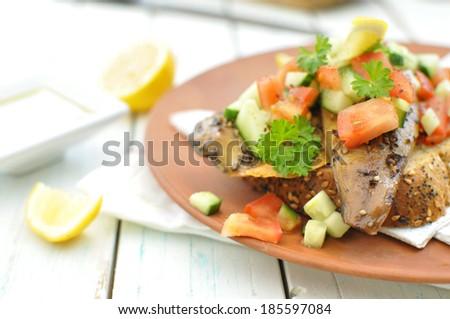 Mackerel fish  - stock photo