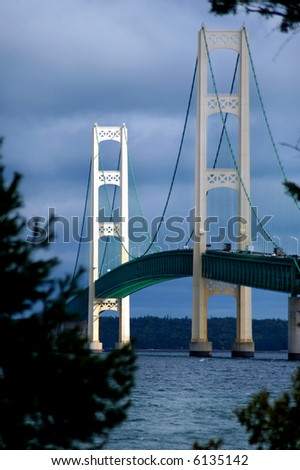 Mackinac Bridge - stock photo