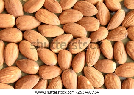 Macro Almonds 1 - stock photo