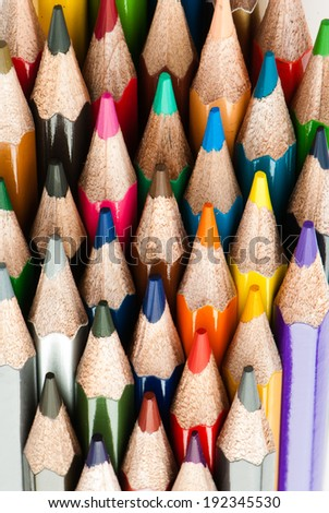 Macro background of the pencil as an element for design. High resolution. - stock photo
