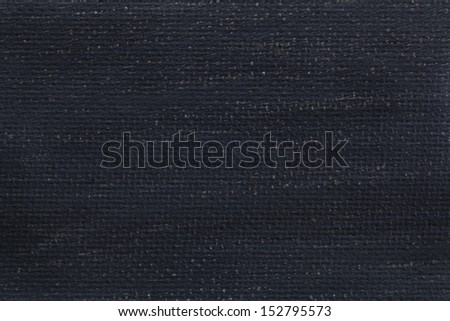 macro background texture of white artist canvas painted black