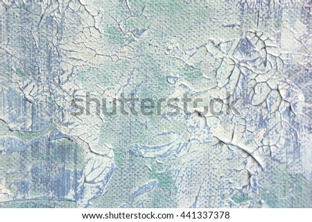 Macro Blue and White Paint Textures 8 - stock photo