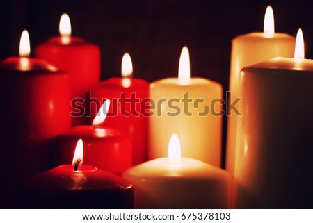 macro candle light set