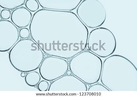 Macro close up of soap bubbles - stock photo