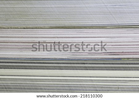 Macro closeup photograph of pages in a book. backgroud - stock photo