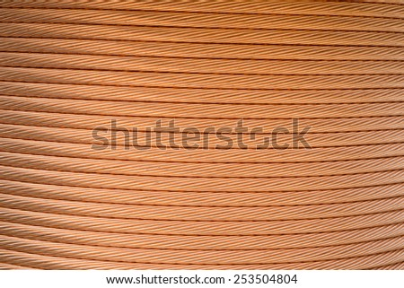 Macro Detail of a copper inductor in a transformer. - stock photo