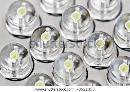 macro detail of a transparent LED. See my portfolio for more - stock photo