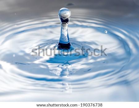 Macro fresh water drop from natural life - stock photo