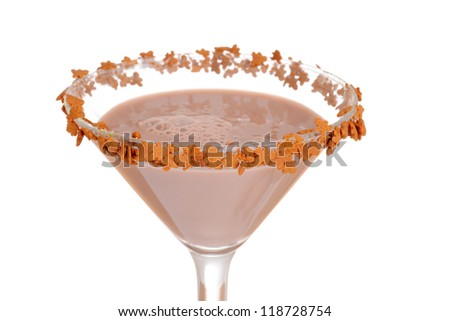 Macro gingerbread martini