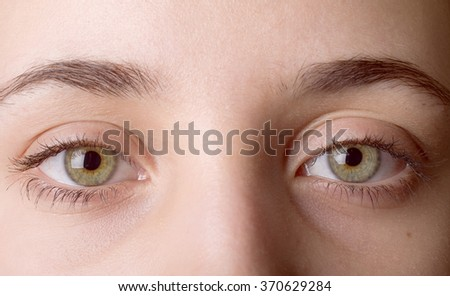 Macro image of human eye - stock photo