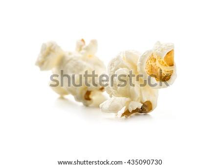 Macro image of Popcorn - stock photo