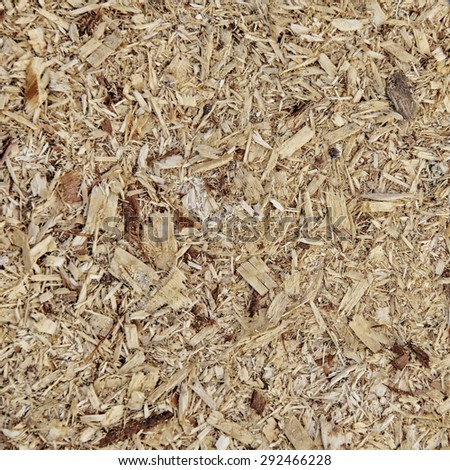 macro isolated texture of a pile of sawdust in daylight