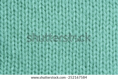 Macro of a woolen Pattern - Detail of plain Knitting - stock photo