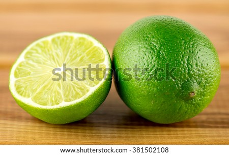 Macro of beautiful fresh lime fruits - stock photo