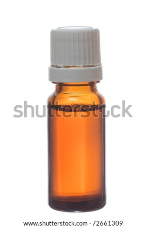 Macro of medicament on white isolated background