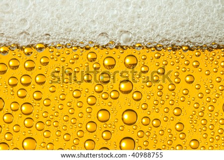 Macro of refreshing beer - stock photo