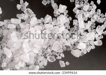 Macro of sea salt crystals - stock photo