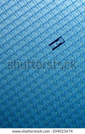 Macro of silicon wafers  - stock photo