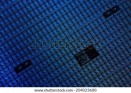 Macro of silicon wafers  - stock photo