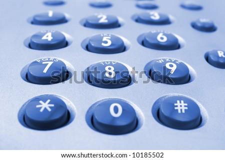 Macro of telephone keypad, business background - stock photo