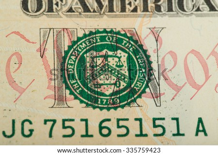 macro of US dollar money banknote for background or backdrop