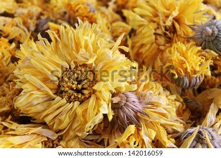 Macro yellow chrysanthemum flower tea stock photo royalty free macro of yellow chrysanthemum flower tea mightylinksfo