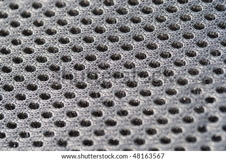 Macro on a extra porous high quality fabric