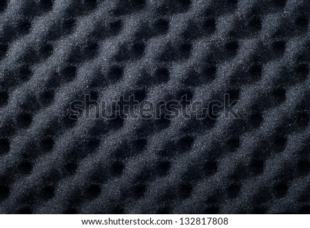 Macro photo black acoustic foam - stock photo
