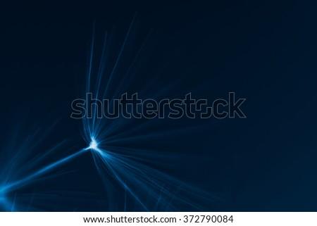 macro photo - fragment of dandelion head, x-ray effect, dark light - stock photo