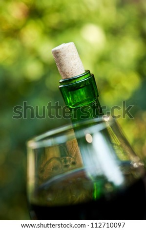 macro photo of wine cork background