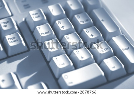 Macro photo with soft focus of keyboard buttons