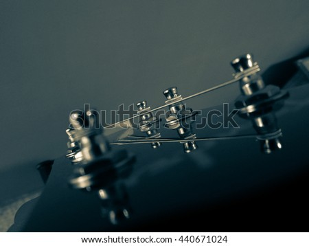 Macro photography black and white guitar