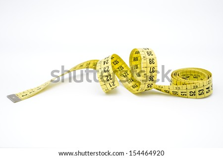 macro photography of a measuring tape on white background