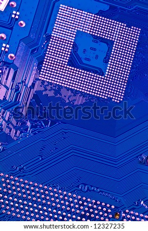 Macro picture of technological computer background - high tech