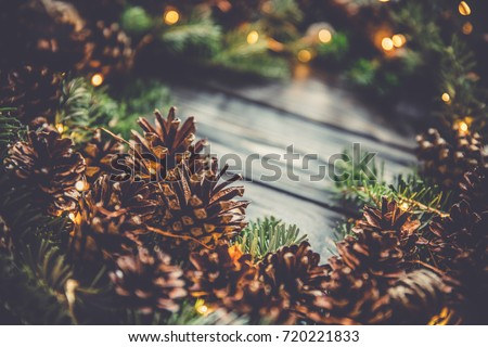 Macro Pine Cone Christmas Tree Branchxmas Stock Photo 720221833 ...