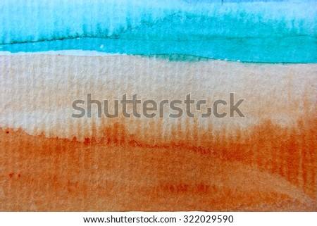 Macro Rainbow Watercolor 9 - stock photo