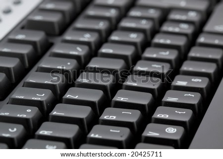 macro shoot of black computer keyboard
