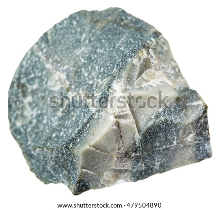 macro shooting of metamorphic rock specimens - hornfels stone isolated on white background
