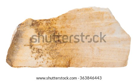 macro shooting of specimen natural rock - specimen of Shale mineral stone isolated on white background