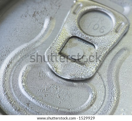 Macro shot of a cold drinks can - stock photo