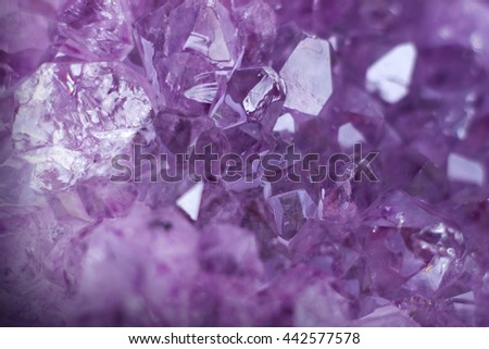Macro shot of an amethyst geode - stock photo