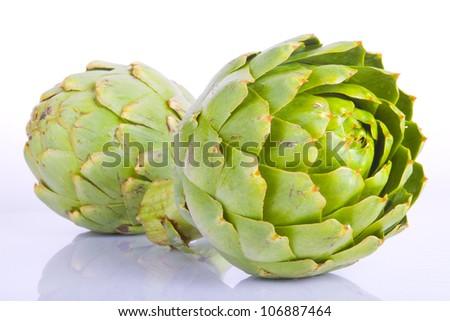 Macro shot of an artichoke vegetable close up - stock photo