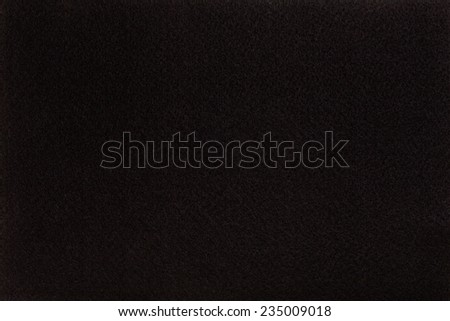 Macro shot of black felt tissue cloth, closeup texture background with details in structure. - stock photo