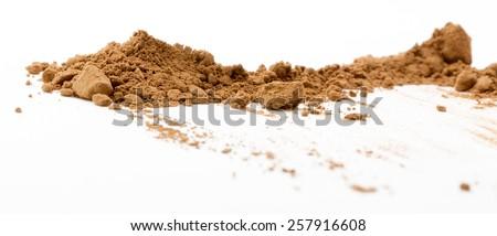 Macro shot of cocoa - Shallow depth of field - stock photo