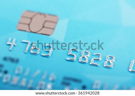 macro shot of credit card numbers - stock photo