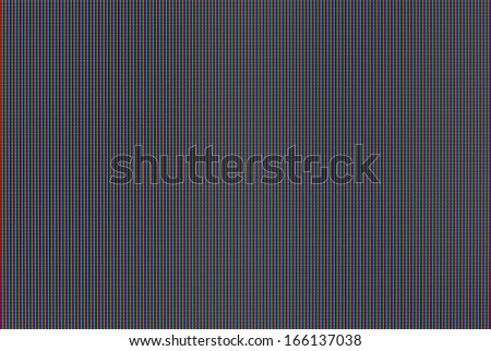 Macro shot of LCD TV matrix.  - stock photo