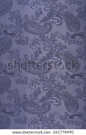 macro texture of blue cloth with cucumbers studio - stock photo
