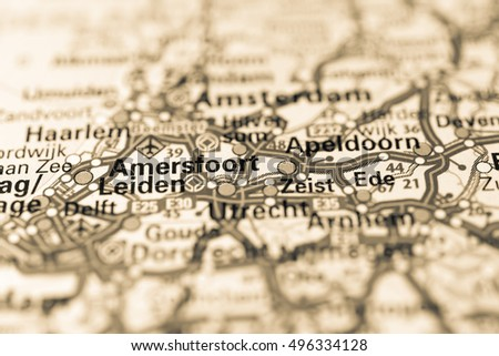 Amersfoort On Map Stock Photo 722540095 Shutterstock