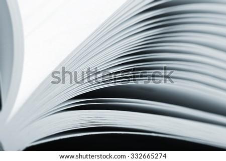 Macro view of an open catalog - stock photo